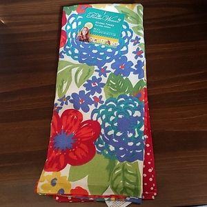 Pioneer Woman Kitchen Towels Dazzling Dahlias 2pk